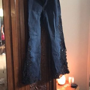 Denim - Blue jeans with beads